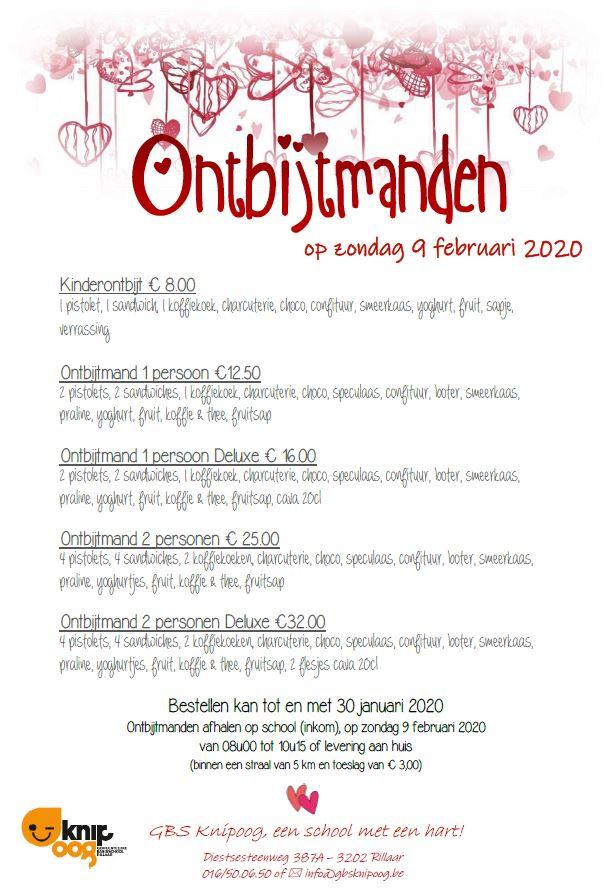 Ontbijtmanden zondag 9 februari 2020