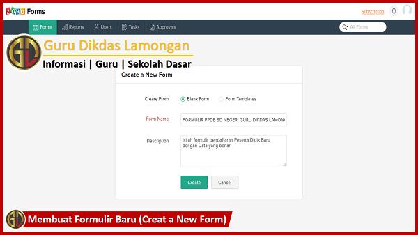 Formulir PPDB Online Dengan Zoho Forms Cukup 5 Menit