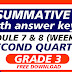 QUIZ 4- Summative Test GRADE 3 Q2