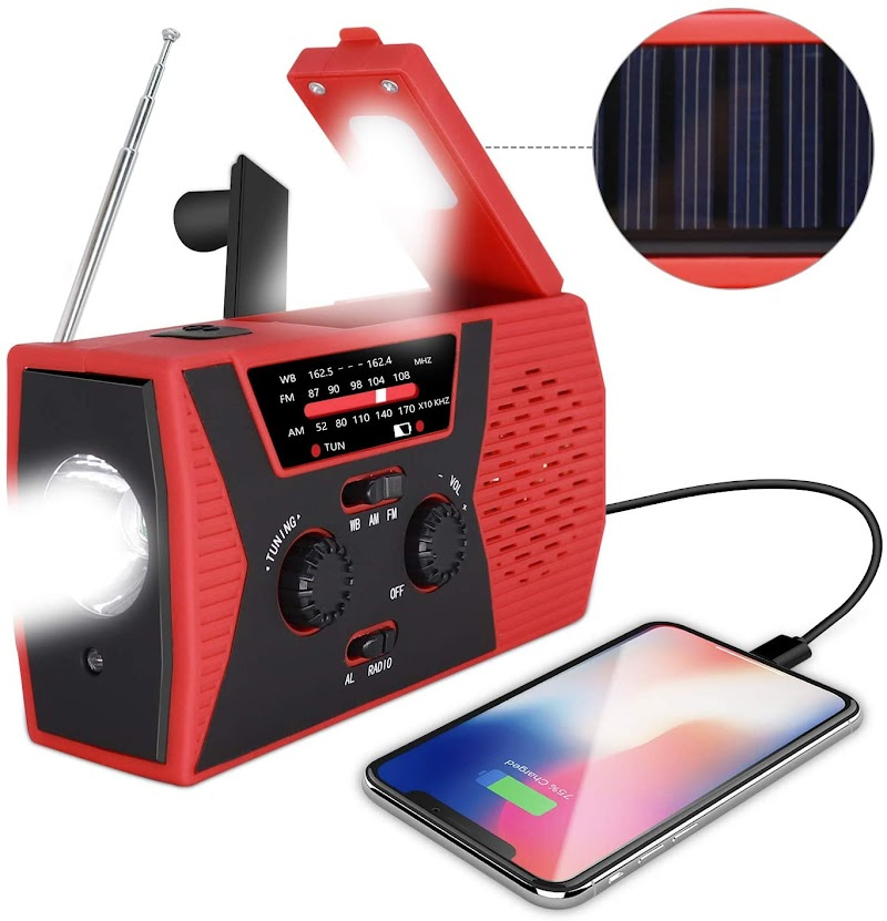 50% OFF NOAA Weather Radio for Emergency with AM/FM, LED Flashlight, Reading Lamp, 2000mAh Power Bank and SOS Alarm