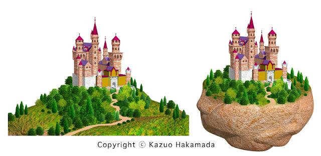 ヨーロッパの城のストックイラストです