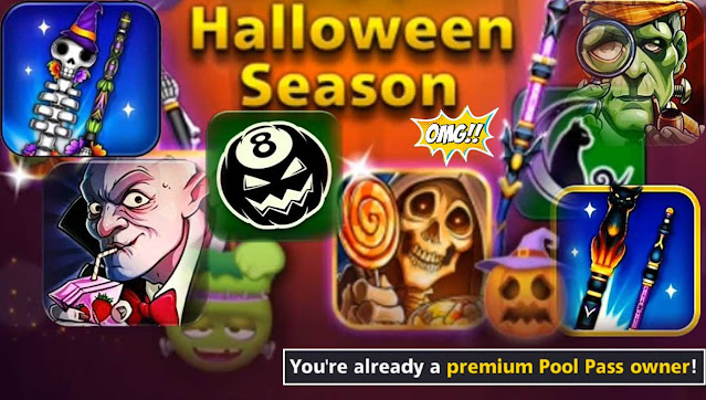 Halloween Season Elite Pool Pass 8 ball pool