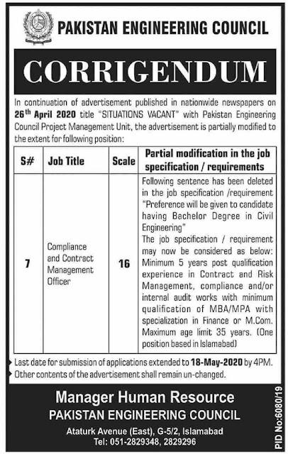 pakistan-engineering-council-pec-jobs