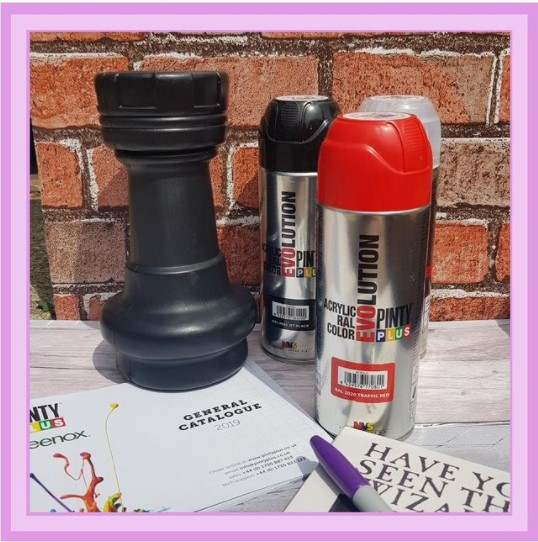 Paints used to create a new outdoor chessboard