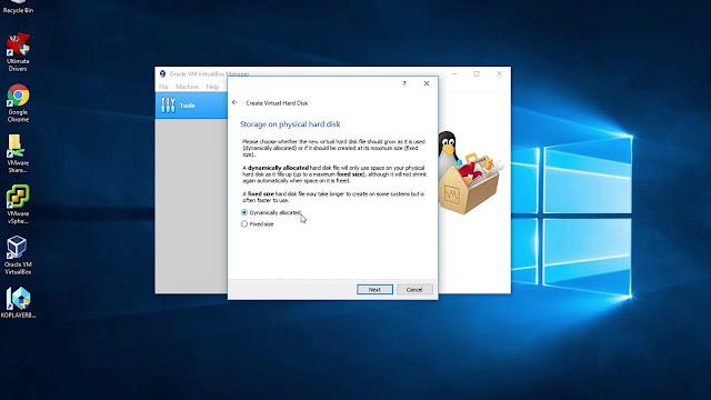 متطلبات جهاز لتشغيل VirtualBox