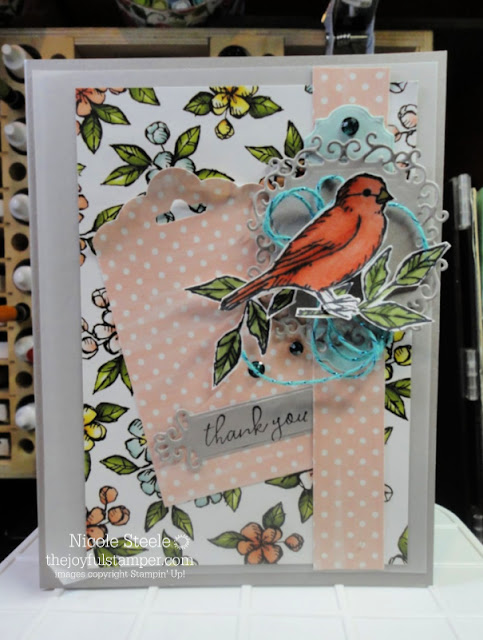 Thank You card using Free As A Bird and Bird Ballad Designer Series Paper