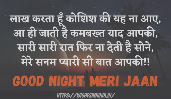 Best Good Night Wishes In Hindi For Girlfriend