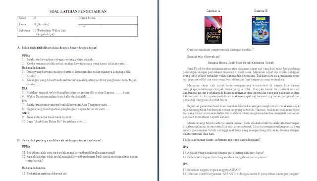 Soal Ulangan Harian Kelas 6 Tema 8