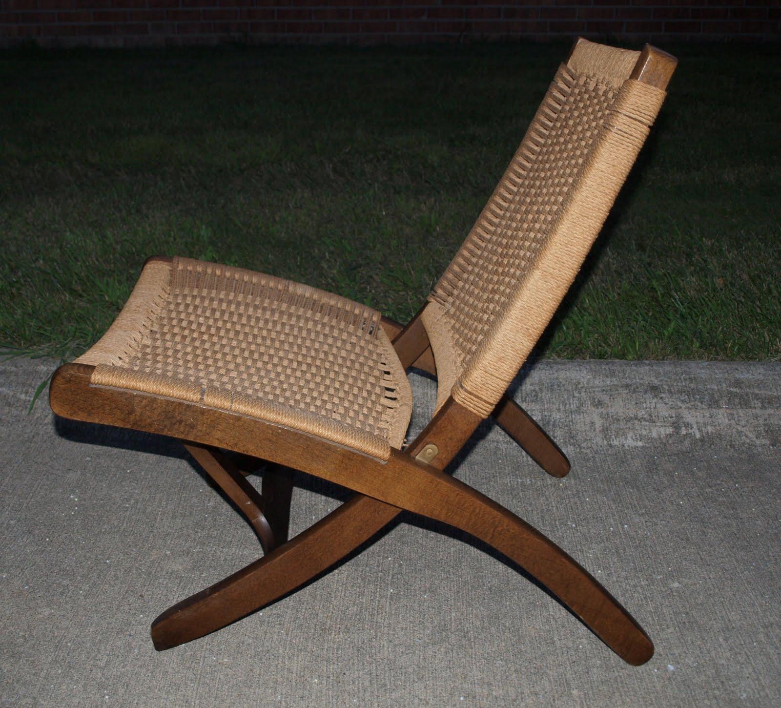 yugoslavian folding chair small wicker funky home finds for sale wegner style danish modern