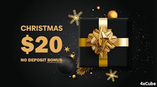 4xCube $20 Forex No Deposit Bonus - Christmas