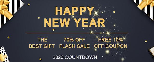 Promoção Novo Ano 2020 na Tomtop