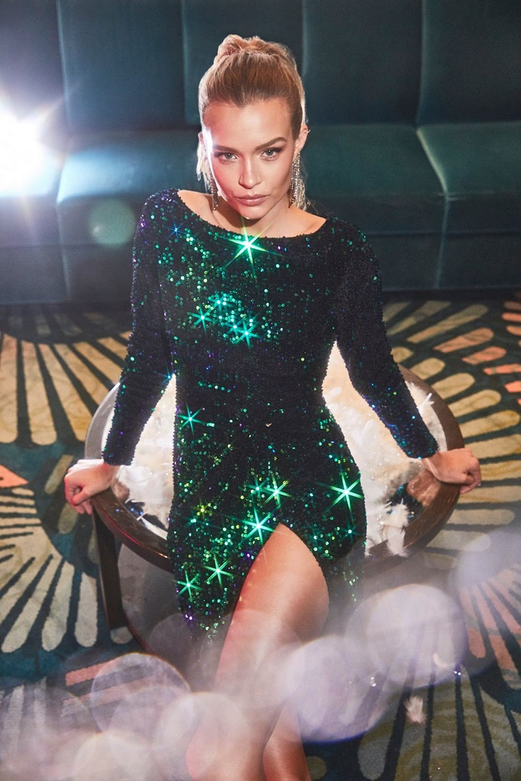 Josephine Skriver – All That Glitters Holiday Boohoo Campaign 2019