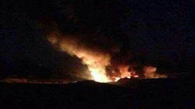 Fuego base militar de Siria