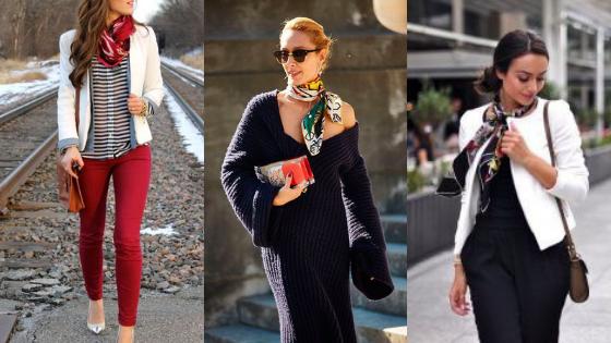 como usar lenço no loook, lencos coloridos no look de inverno