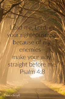 Lead me, Lord, in your righteousness because of my enemies - make your way straight before me.