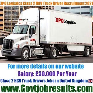 XPO Logistics HGV Class 2 Truck Driver Recruitment 2021-22