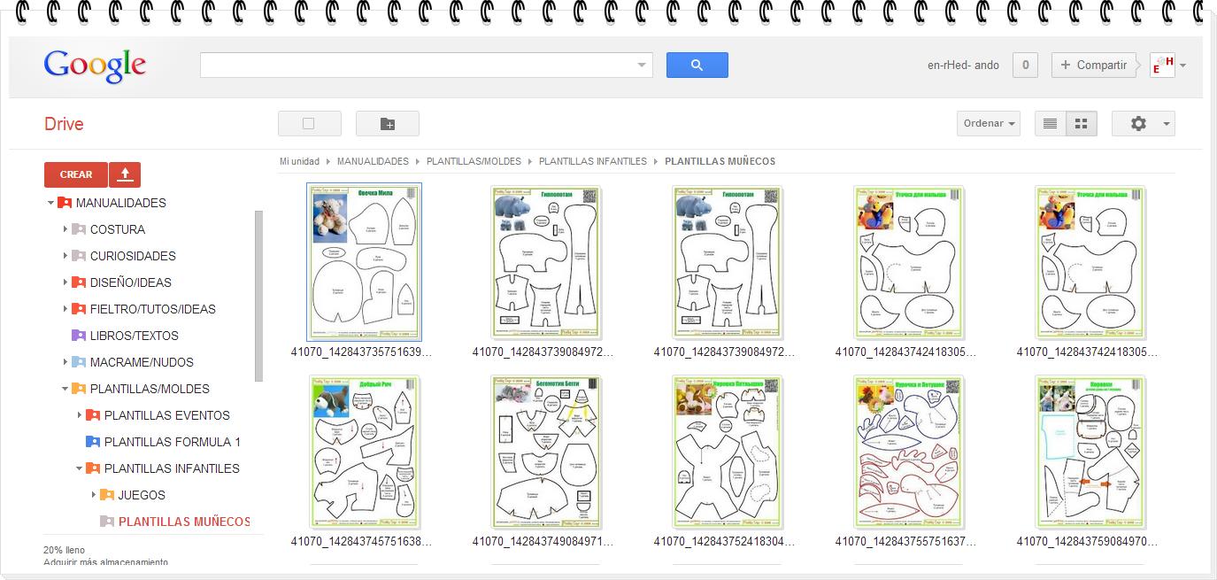 Y ahora lo último si queréis ver infinidad de muñecos con patrones y algunos con tutoriales de todas clases y con gran variedad aquí conocereis una página