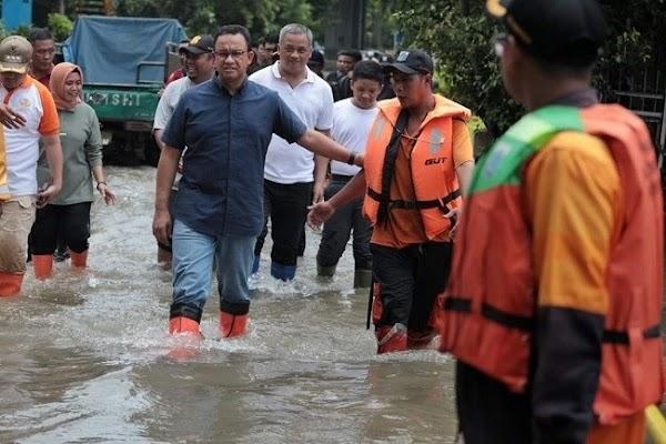 Kalau Jakarta Banjir Anies Diolok Sampai 7 Purnama, Giliran Semarang Buzzer Pada Mingkem