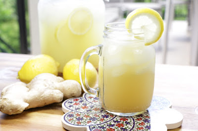 ginger lemonade drink is best in summer
