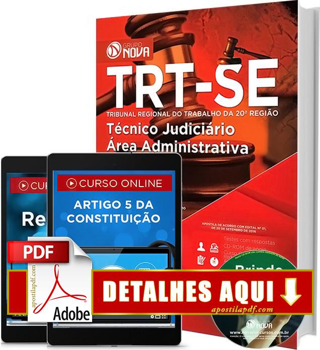 Apostila TRT 20 2016 Técnico Judiciário Impressa