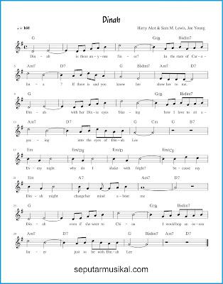 Dinah chords jazz standar