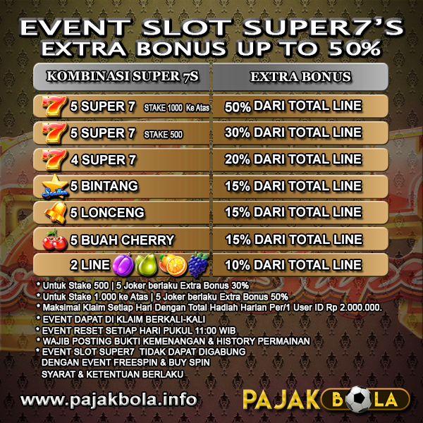 Extra Bonus Slot Game Super7