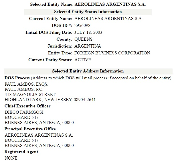 La extraña sucursal de Aerolíneas Argentinas en Nueva York | Cosas ...