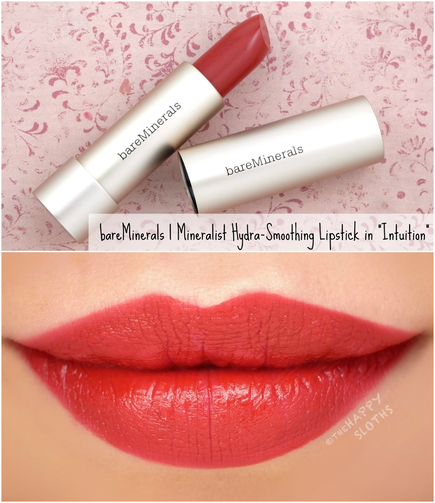 "bareMinerals | Mineralist Hydra-Smoothing Lipstick in ""Intuition"": Review and Swatches"