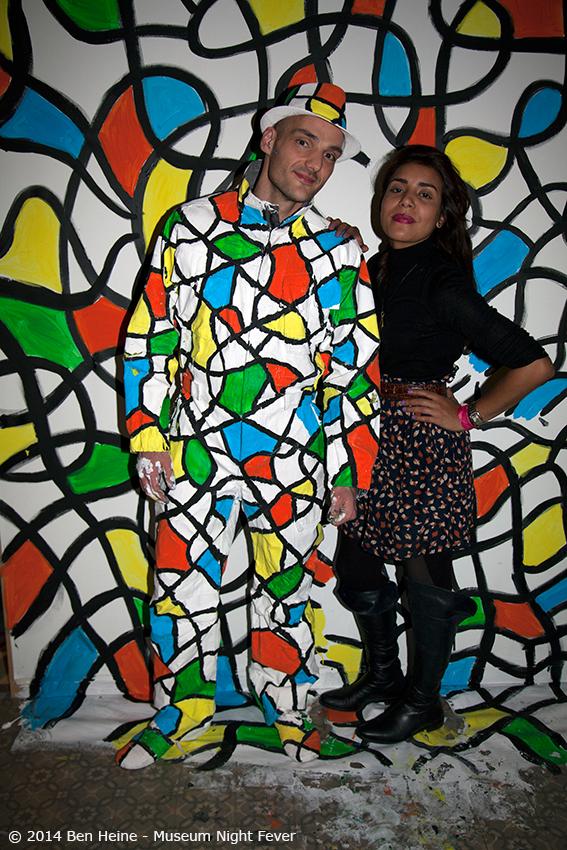 Artist Ben Heine with Agent Najwa Borro