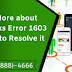 Know More about QuickBooks Error 1603 and How to Resolve it