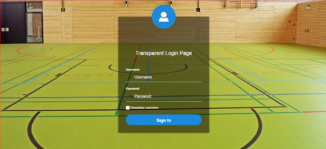 transparent login page with avatar in Oracle APEX