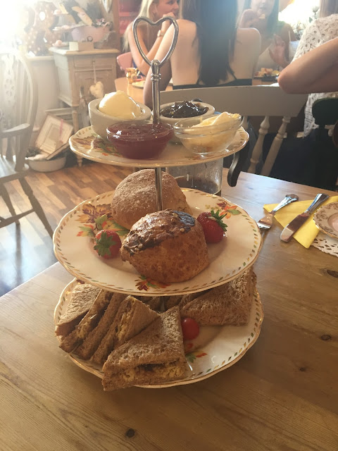 This Month I.... August, Afternoon Tea, Horsham, Pretty Things, Cake, Birthday, Present