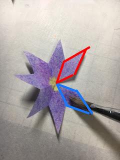 影織の切り絵ポップアップカード作り方⑧