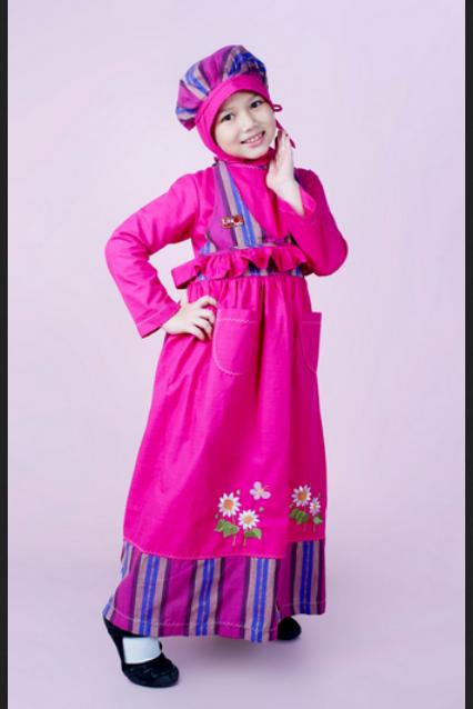 baju muslim untuk anak perempuan umur 8 ahun