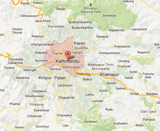 Kathmandu Tourism Maps of Nepal Nepal Maps Map of