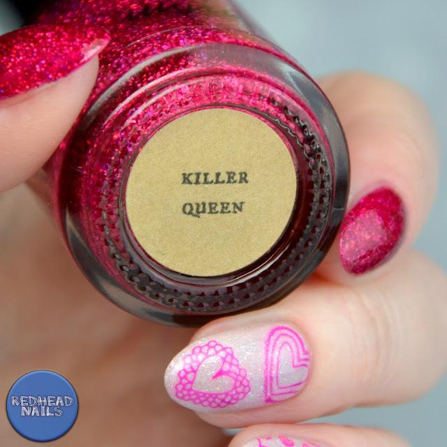 paznokcie na walentynki Illyrian Killer Queen