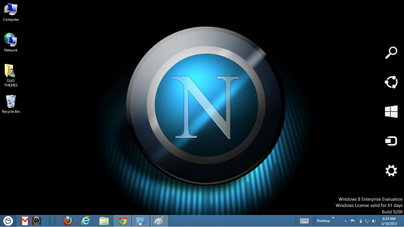 Download Gratis Tema Windows 7: Napoli Fc 2013 Theme For