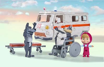 MASHA Y EL OSO - La Ambulancia | Simba | Serie Clan | COMPRAR JUGUETE - TOYS - JOGUINES detalle lobos