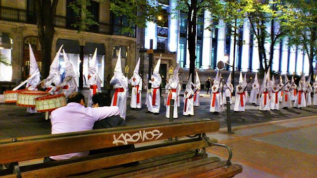 columna Josetxu, Semana Santa, hosteleros, Bilbao,