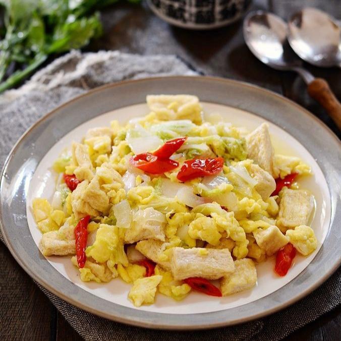 Resep Praktis Telur Orak-Arik Sawi Putih Spesial