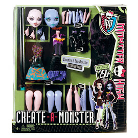 MH Create-a-Monster Vampire & Sea Monster Doll