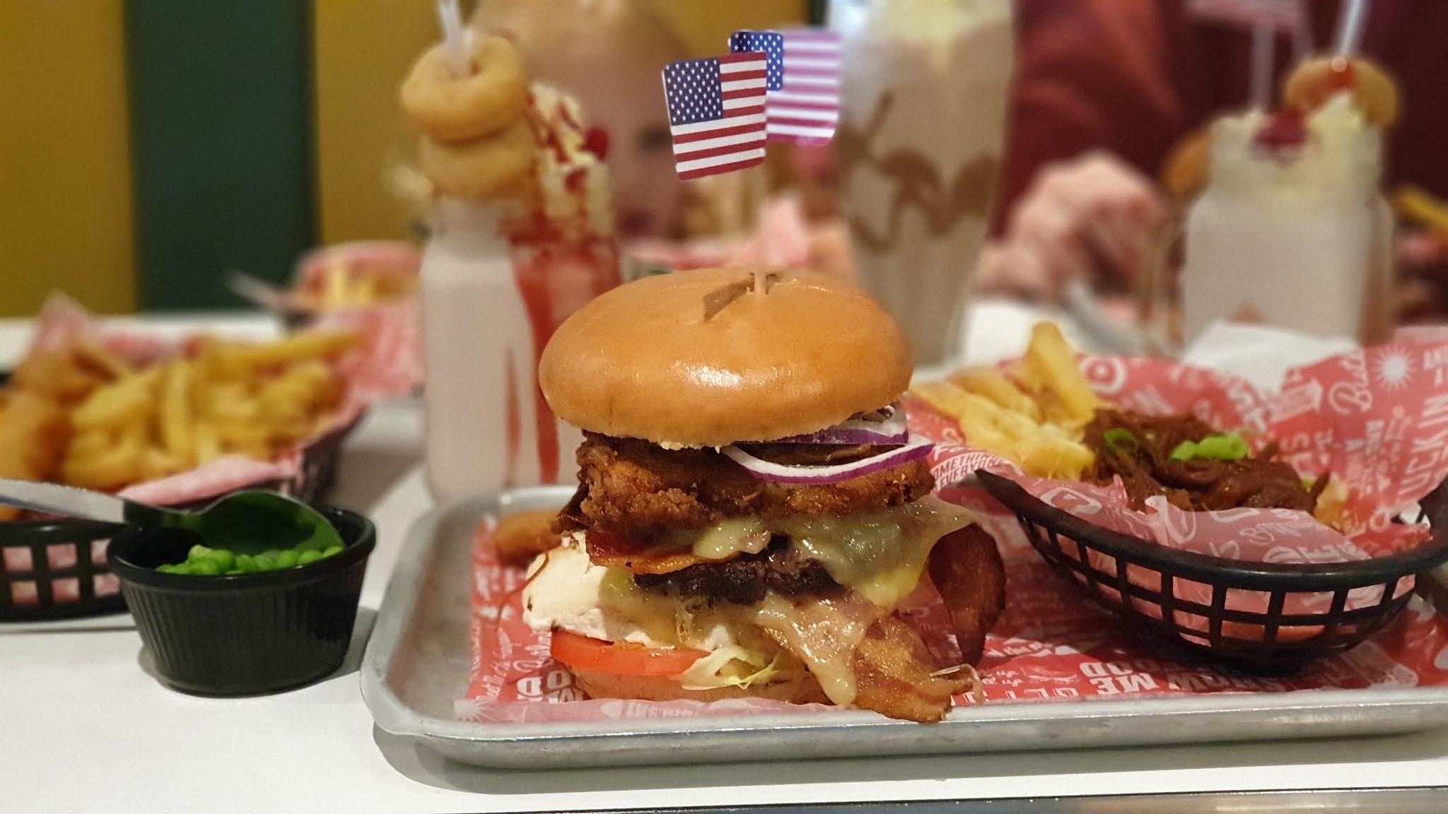 diner burger at butlins