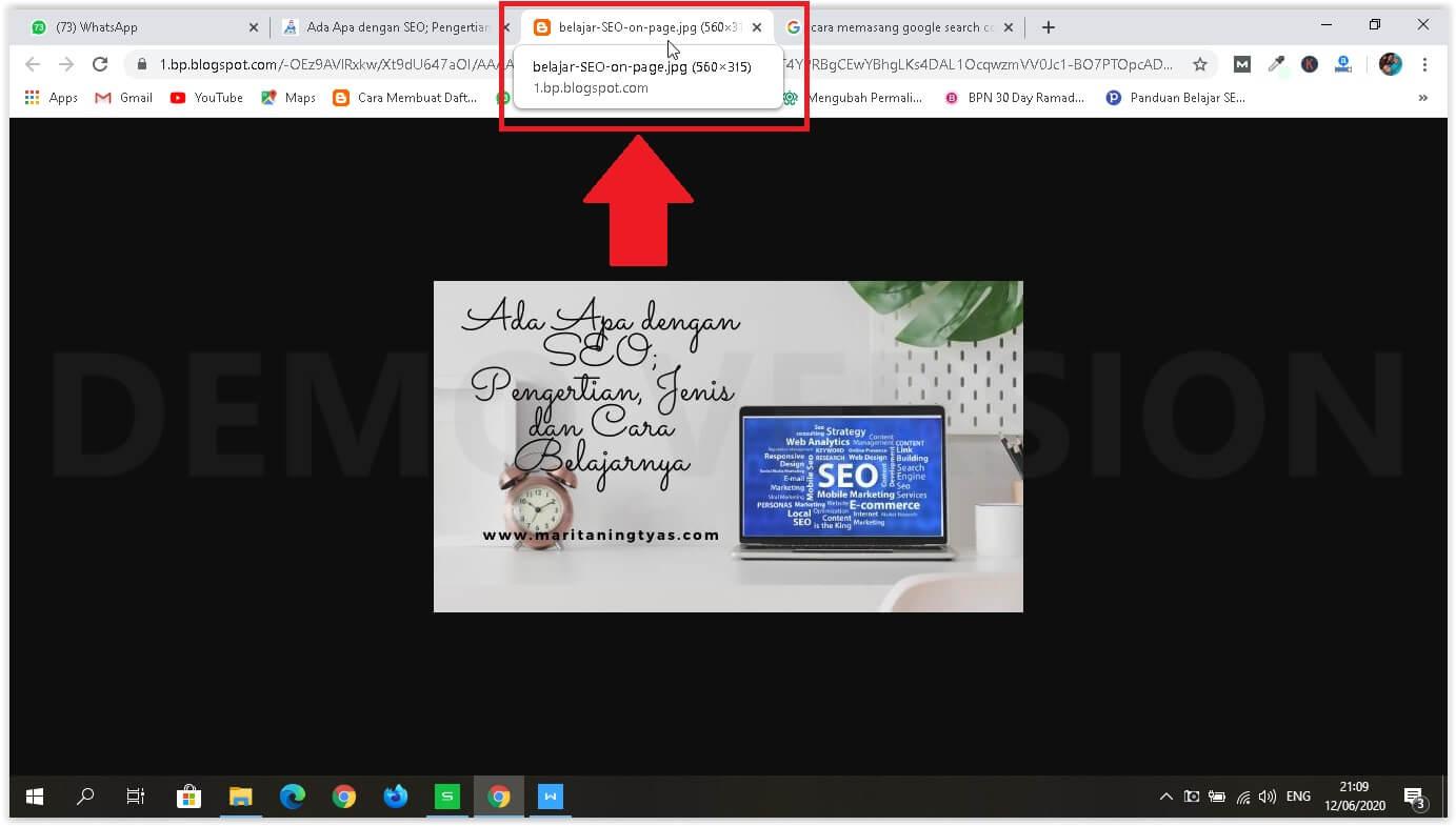 cara optimasi SEO pada gambar nama file