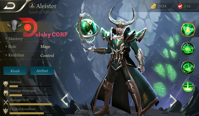 Arena of Valor : Hero Aleister ( Lord of Mischief ) High Damage Builds Set up Gear