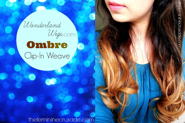 Wonderland Wigs Double Volume Ombre Clip In Weave