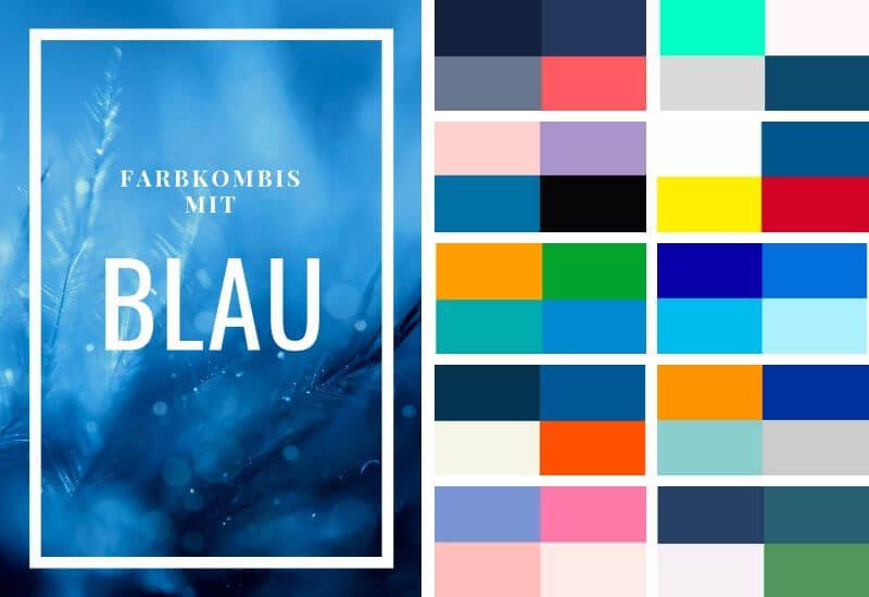 Blau-kombinieren-Farbübersicht