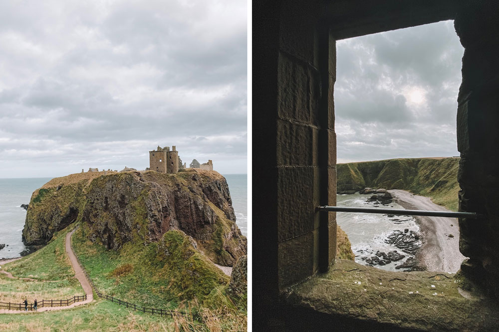Breathtaking ruins of Dunnottar Castle on the coast of the North Sea; photo by travel blogger Amanda Martin