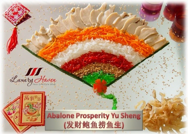 chinese new year new moon abalone yusheng salad