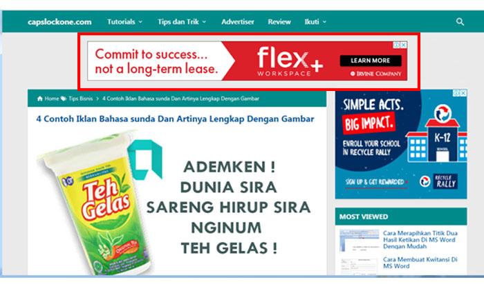 Contoh Iklan Display, Pengertian Dan Contoh nya