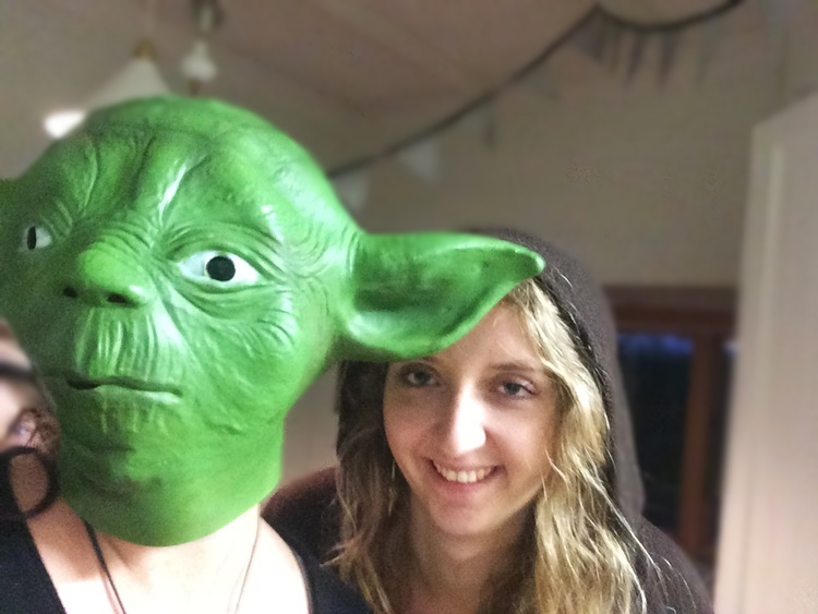 Yoda (me) and Sophie (our French homestay)